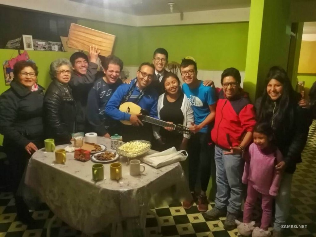 Cusco, with host and his friends